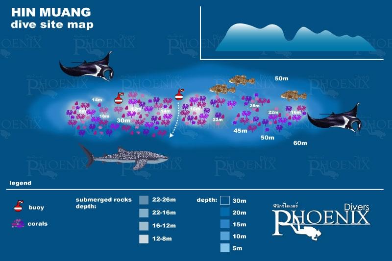 hin muang diving site map